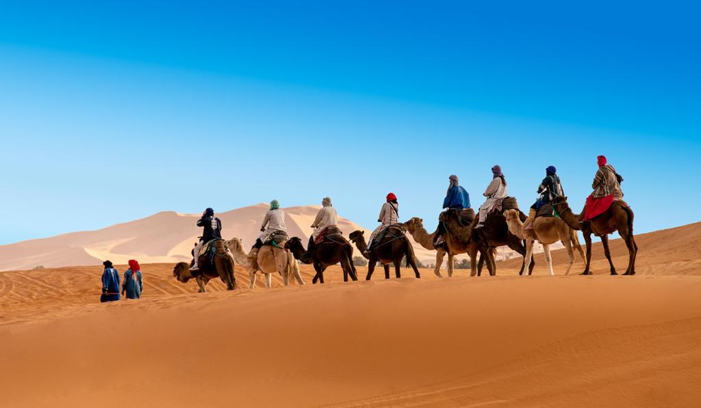 Voyage de Relation Publique au Maroc avec une sortie en dromadaires